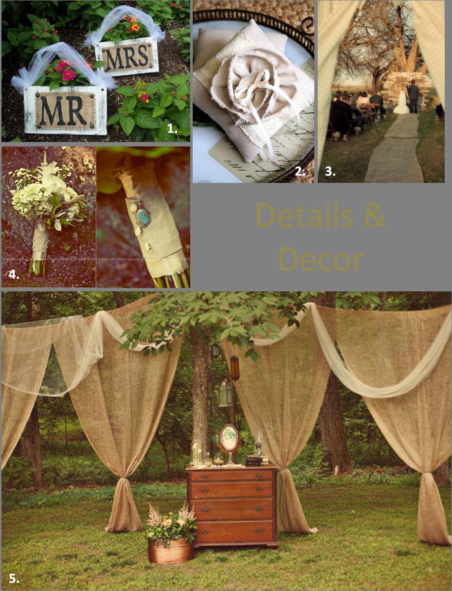 Fall wedding decor ideas  BurlapWeddingDecor  Wedding Ideas u Cakes  Pinterest  Burlap