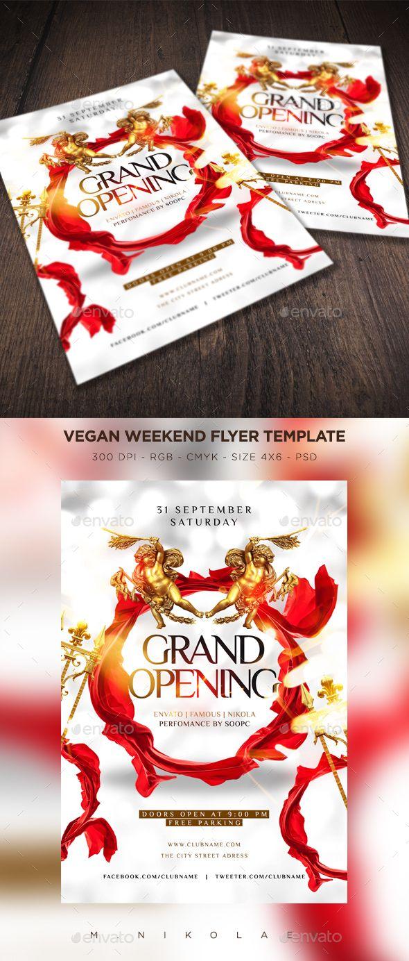Grand Opening Flyer V6 Pinterest Grand Opening Flyer Template