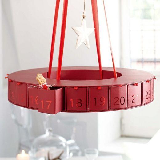 festlicher adventskalender h ngend decke weihnachten. Black Bedroom Furniture Sets. Home Design Ideas