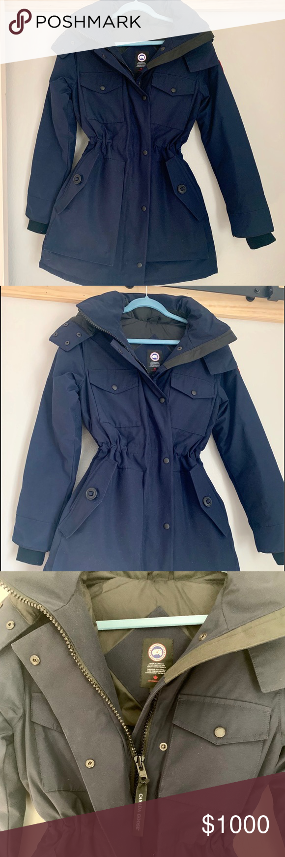 Navy Canada Goose Coat Brand New Nwt One Of The Last Navy Canada Goose Gabriola Hooded Parka Coat In Size Small This Jacket Is Abs Coat Canada Goose Parka Coat