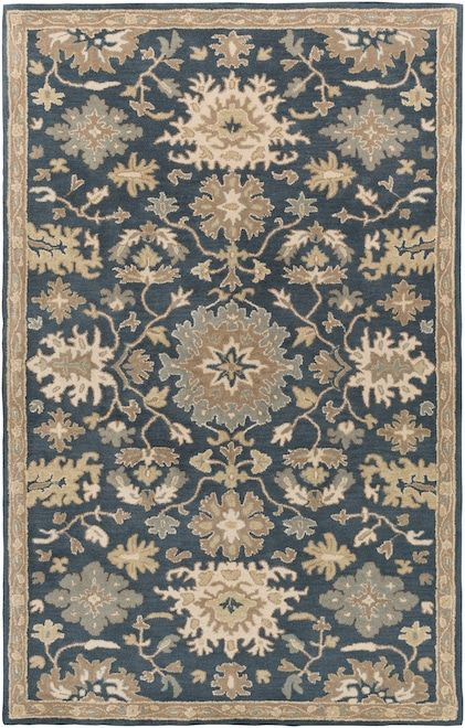 Caesar Cae 1154 Navy Rug Wool Area Rugs Area Rugs Traditional Rugs