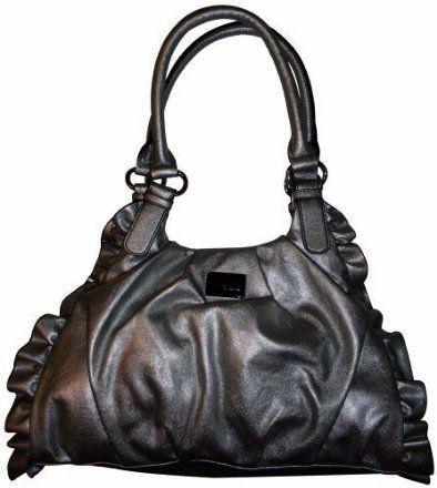 Women S Nine Co By West Purse Handbag Smoked Pearl Ruffle Scuffle