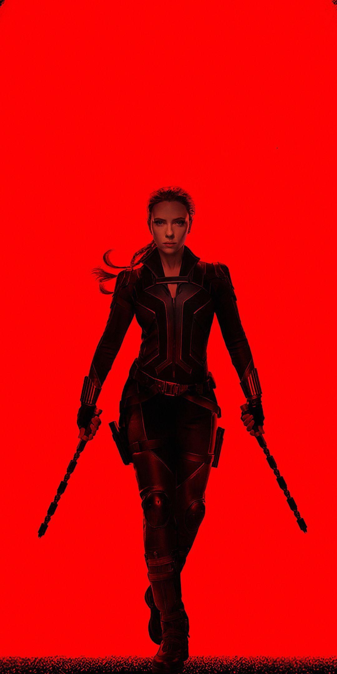 Black Widow, movie, minimal, 2020, 1080x2160 wallpaper