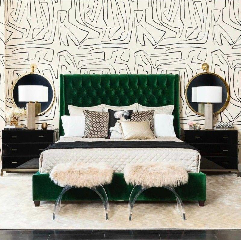 Light Green Bedroom Wallpaper New Bedroom Interior Design White Bedroom Armoire Bedroom Wallpaper Purple: 10 Stunnning Emerald Green Bedroom Designs