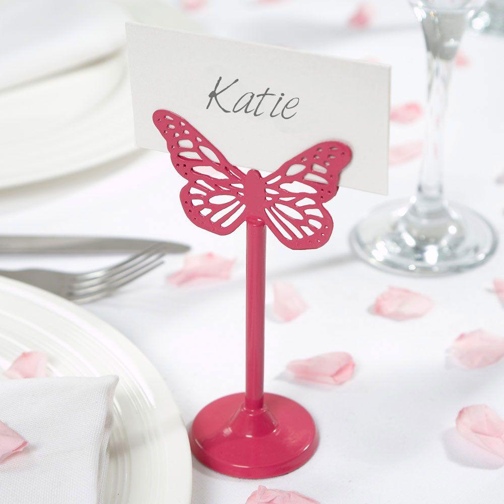 Hot Pink Butterfly Placecard Holder | butterflies | Pinterest ...