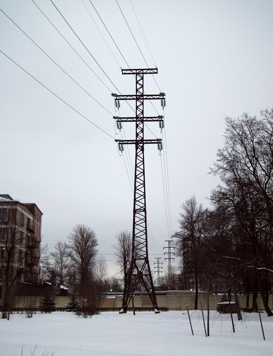 Transmission Tower 110 Kv In Saint Petersburg Russia Opora