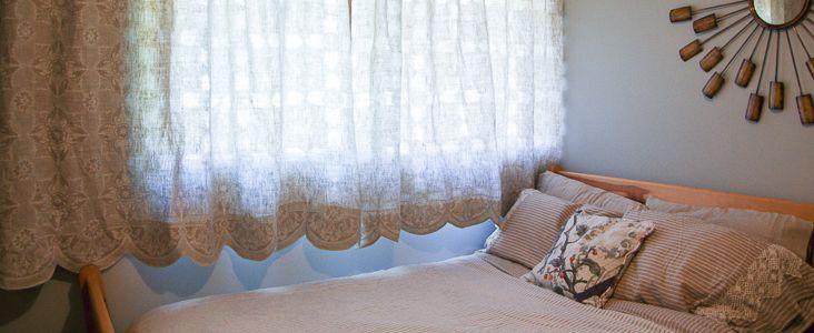 Scalloped Hem Curtains Tutorial  - Fabrics-store