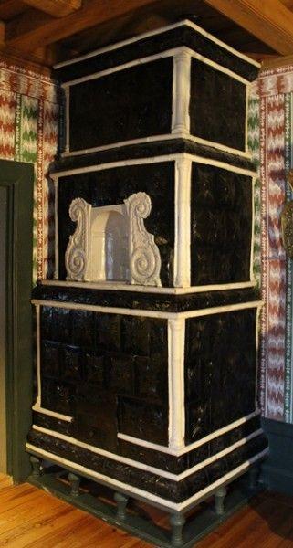 Poele Des Annees 1730 Au Chateau De Turku En Finlande Poele Poele A Bois Et Terre Cuite