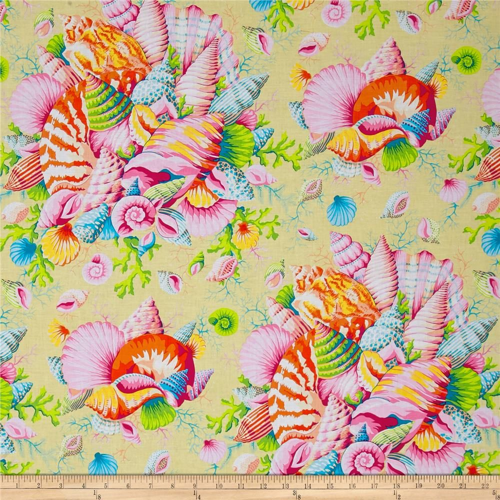 Philip Jacobs Spring 2017 Shell Bouquet Yellow From Fabricdotcom Designed By Philip Jacobs For Free Spirit Shell Bouquet Printing On Fabric Fabric