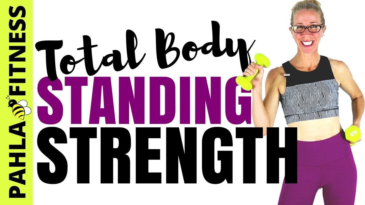 STANDING STRENGTH   Quick No Repeat Full Body TONING Workout with Dumbbells for Body-Shaping Results
