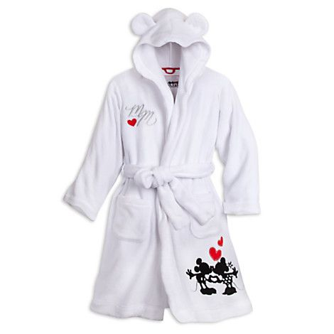 e05dc92626 Mickey and Minnie Mouse Hooded Robe for Women