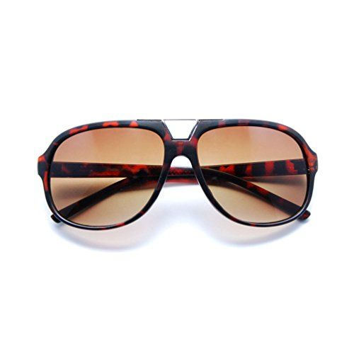ea75663e7c SunGlaz Classic Square Frame Metal Accents Flat Top Aviator Sunglasses  Tortoise Brown    Want to