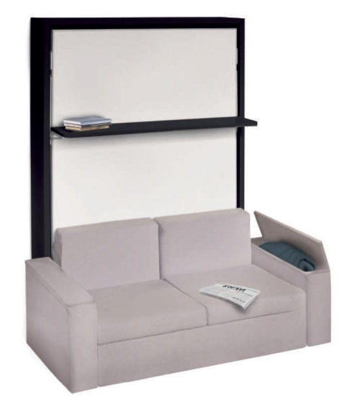 armoire lit verticale luxury canap intgr accoudoirs larges 140 200 cm - Armoire Lit Canape