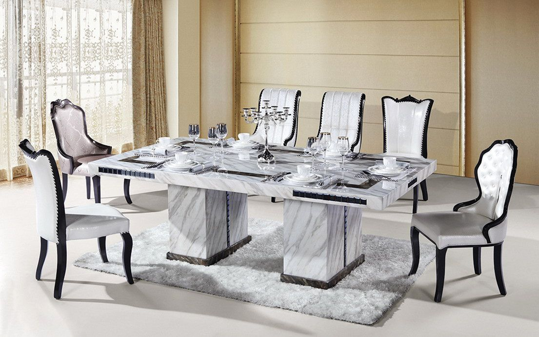 12 Incredible Home Interior Design With White Marble Ideas Freshouz Com Dining Table Marble Dining Room Table Marble Dining Room Design Marble table set for living room