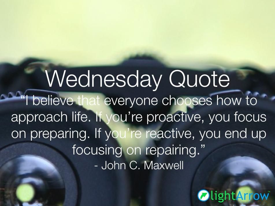 Choose To Be Proactive Prepare For The Unexpected Quote