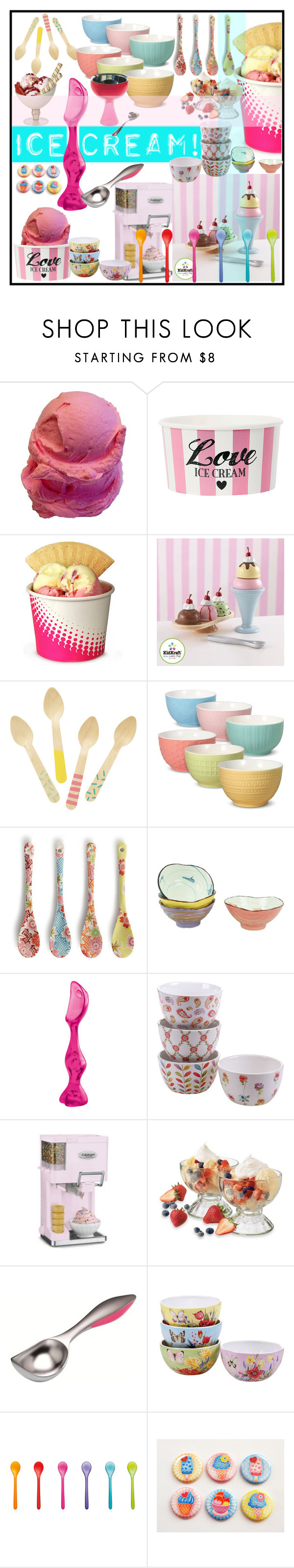 """Ice Cream"" by marionmeyer ❤ liked on Polyvore featuring interior, interiors, interior design, home, home decor, interior decorating, KidKraft, Mikasa, Miya Company and Koziol"