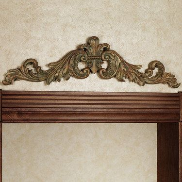 Sidoria Scroll Champagne Gold Door Topper Gold Door Iron Wall Decor Eclectic Decor