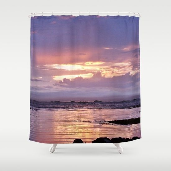 Misty Sunset Shower Curtain By Danbythesea Society6 Sunset Art Unique Shower Curtain Curtains