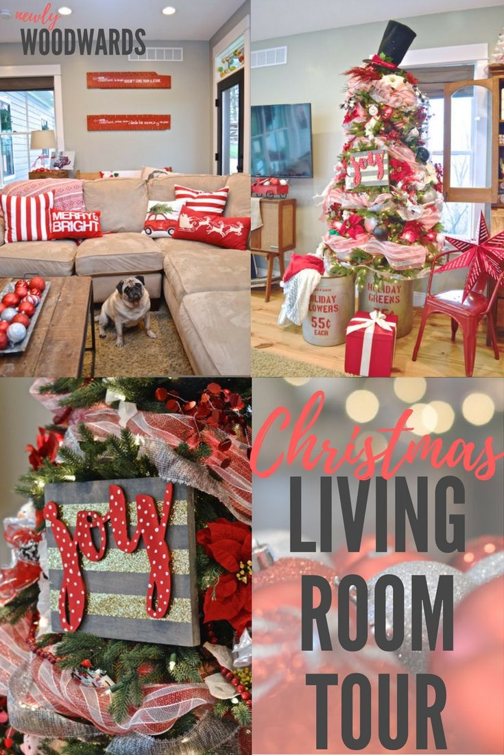 Our Holiday Living Room In Red Our Christmas Ideas
