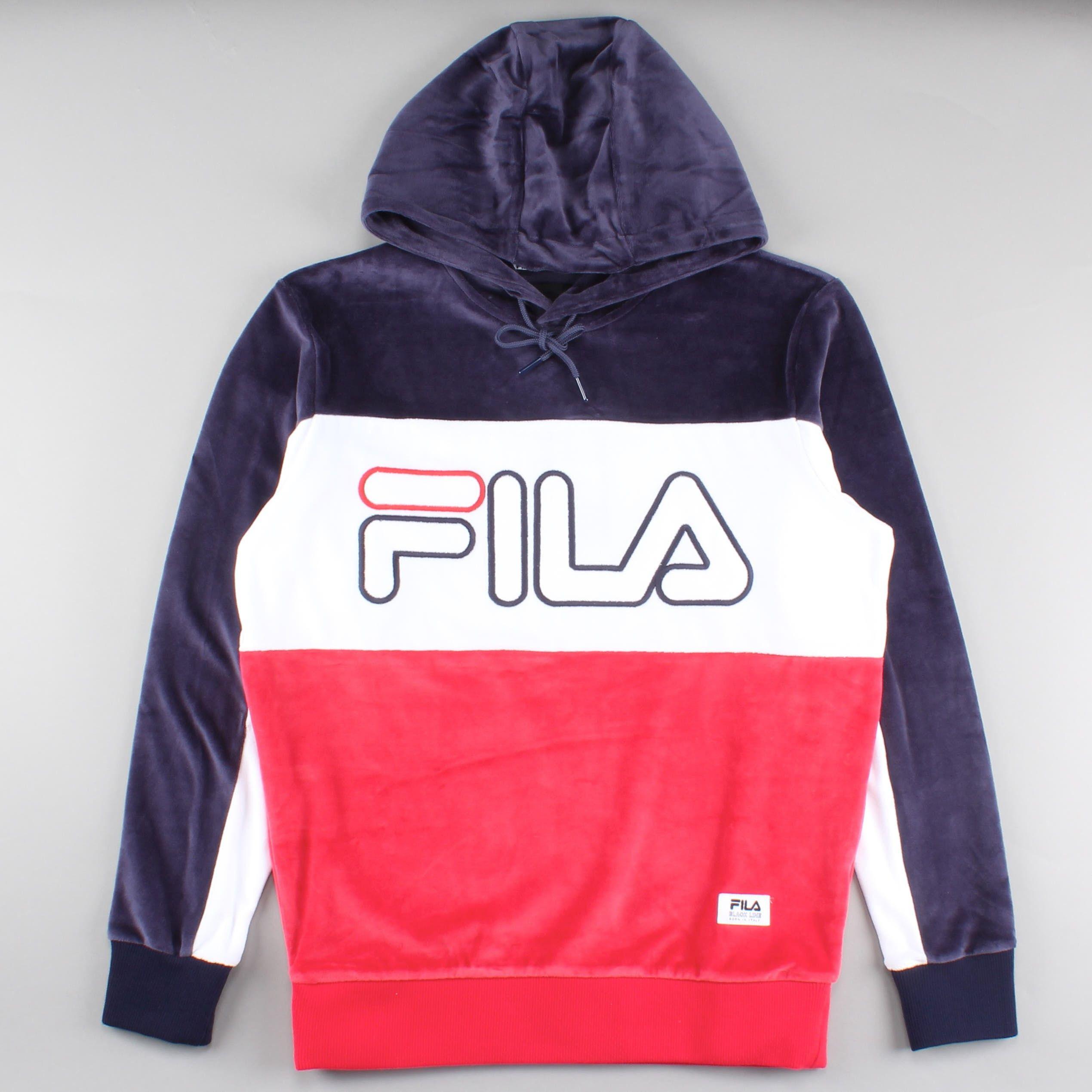 Sweatshirt · Fila Hoodie Baggio Peacoat/White/Red FW16BKM005