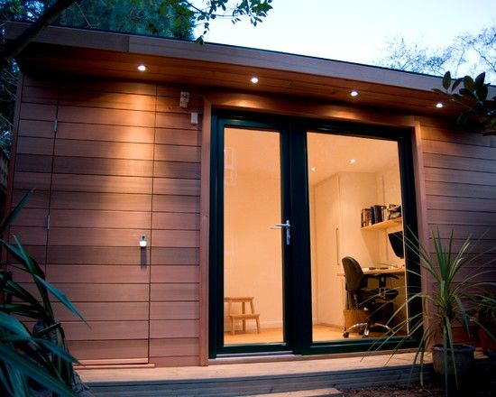 Outdoor Recessed Lighting In Eaves Overhang Shed Lighting Ideas Shed Office Garden Shed Lighting Ideas