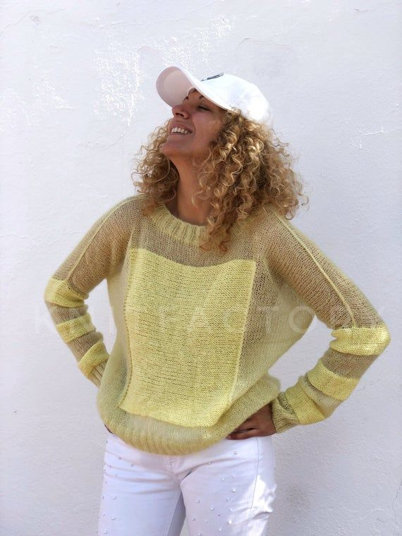 Knit Mohair sweater Loose oversize fit Quality moh