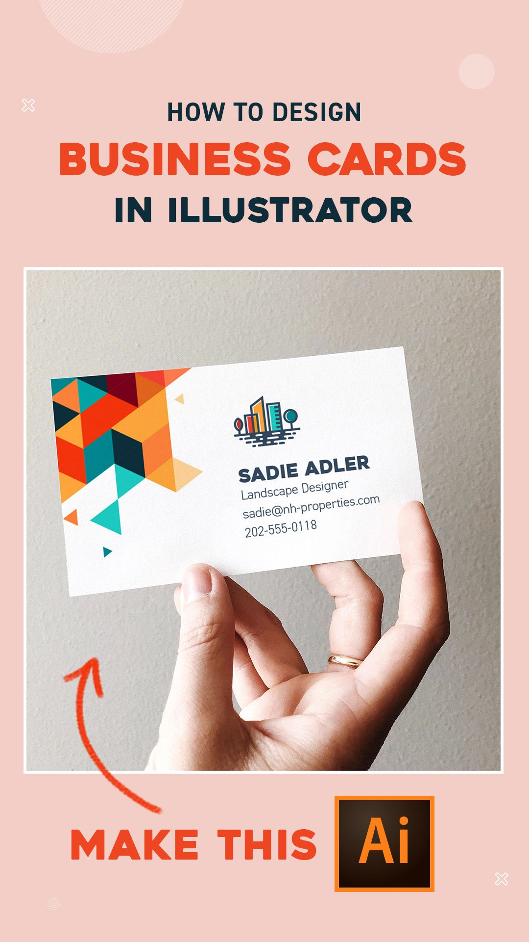 Guide To Business Cards Design With Illustrator Cc Create Business Cards Business Card Design Business Card Mock Up