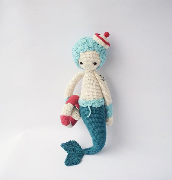 MICI the mermaid, crocheted doll, toy | Crochet it | Pinterest ...