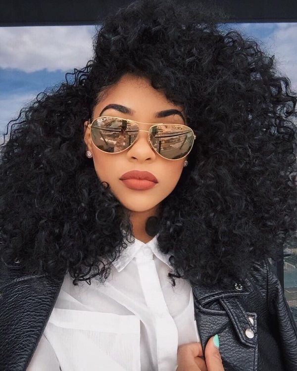 Big Curls Natural Hairstyles With Edges Health Pinterest Curly