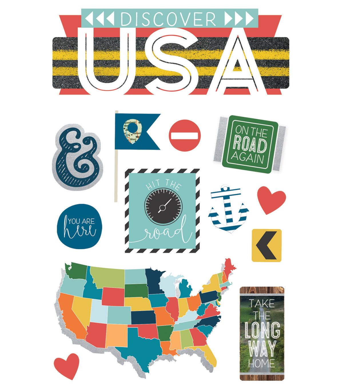 Paper House 4 5 X8 5 3d Stickers Discover Usa Products Pinterest