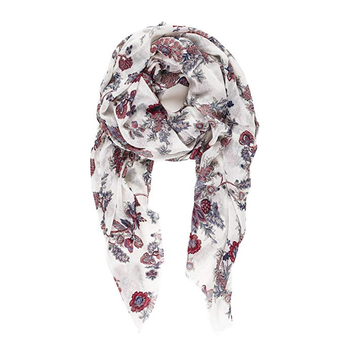 Woman Luxury Boutique Cashmere Blend Artistic Painting Printed Winter Scarf UK