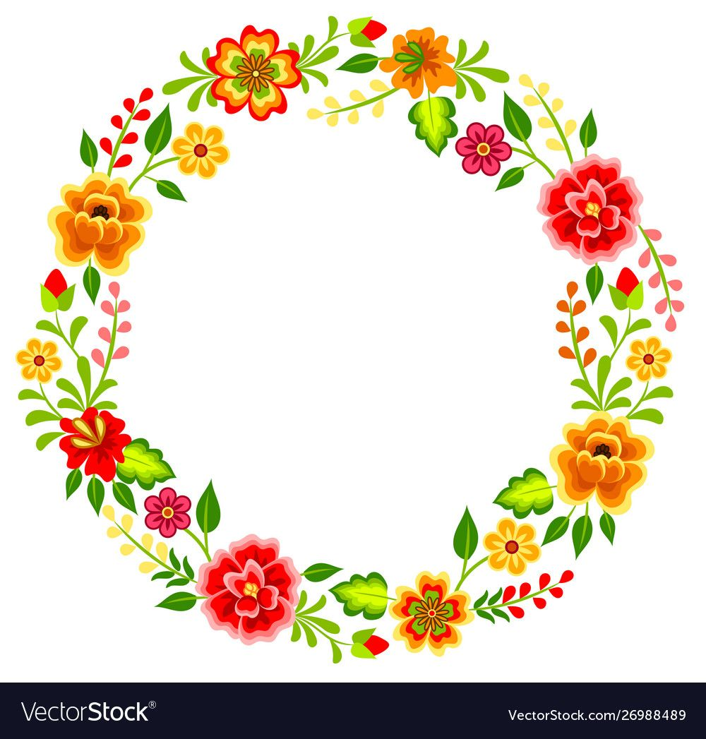 Mexican Floral Pattern Royalty Free Vector Image Floral Pattern Vector Flower Bouquet Drawing Mexican Flowers