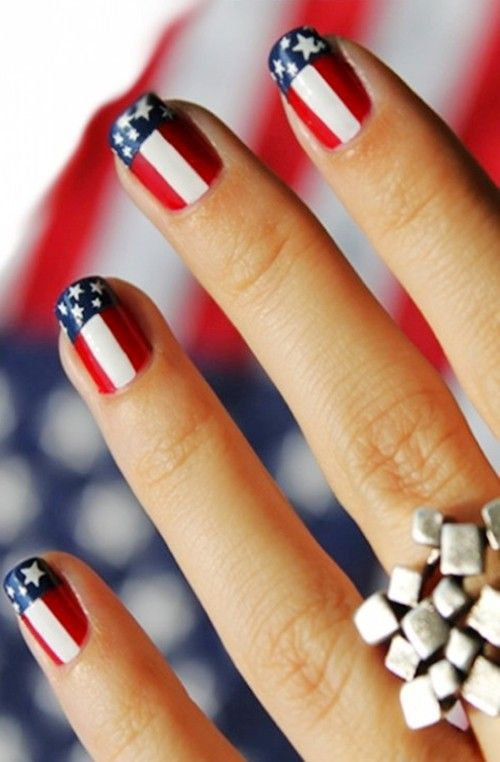 The fourth of July is coming up. - 22 Stunning Patriotic Nail Designs To Show Off This Fourth Of July