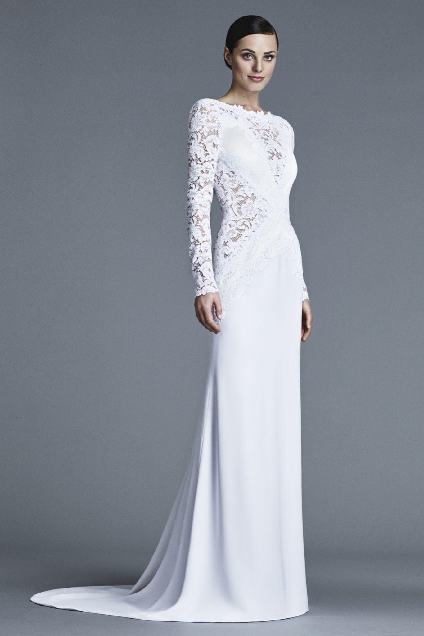 Elegant wedding dresses for mature brides  J Mendel Look   Bridal  Pinterest  Shoe bag Wedding and Gowns
