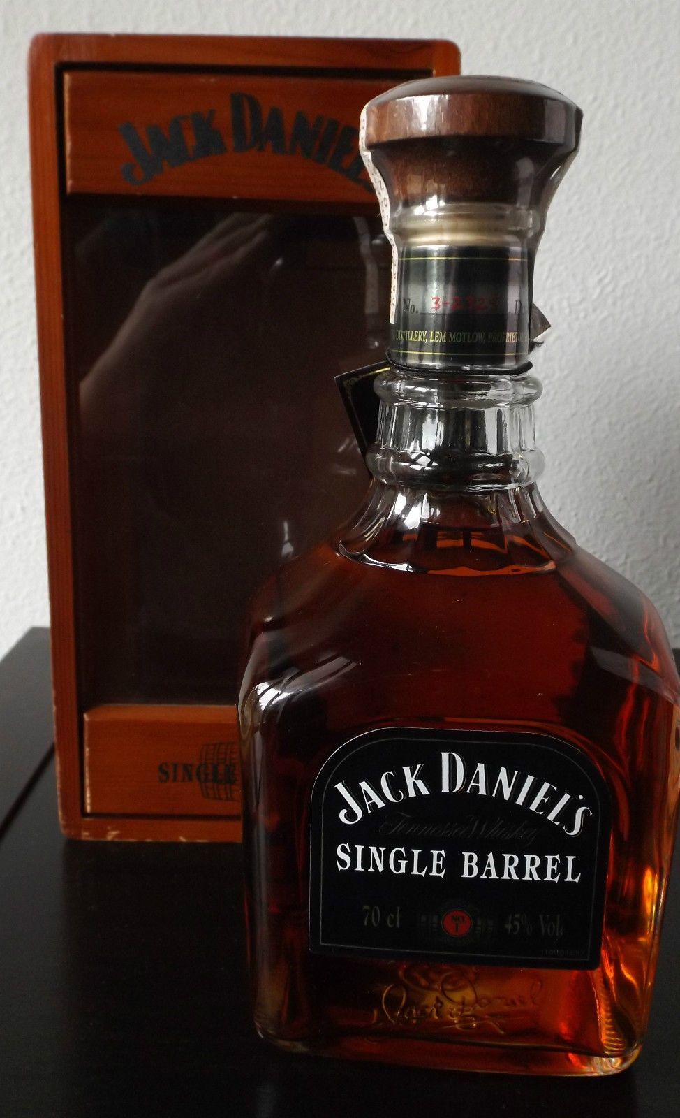 Jack Daniels Single Barrel Wood Box Portugal Decanter Glass Whiskey Whisky 2003 |