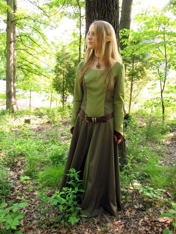 Simple girlu0027s elf costume  sc 1 st  Pinterest & Simple girlu0027s elf costume | Fantasy medieval inspiration Dress ...