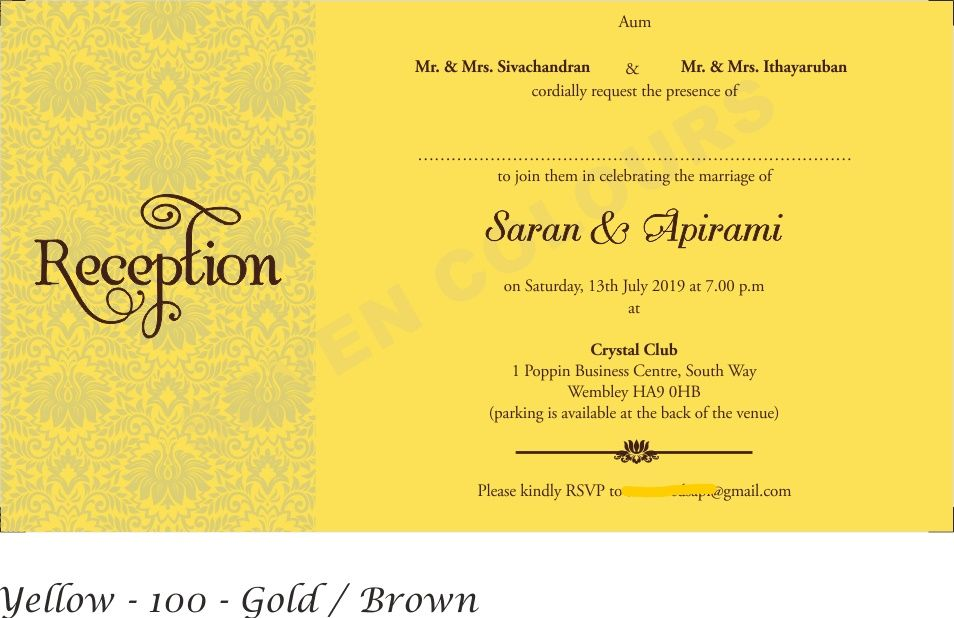 Pin by Seven Colours Card on Tamil Wedding Matter both in