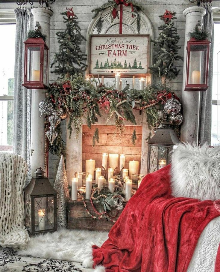 Photo of Fireplace with Christmas characters / Dekopub – #Dekopub #Kamin #kerzen #mit #Christmas …