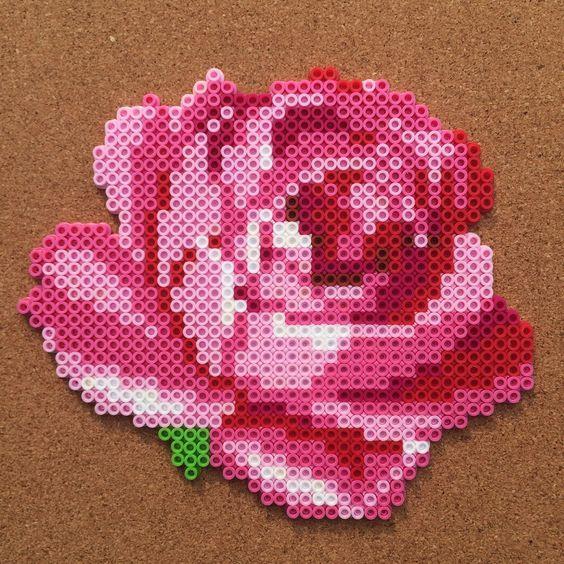 Perler Bead Flower Patterns Google Search Perler Bead Ideas Custom Adorable Perler Bead Flower Patterns