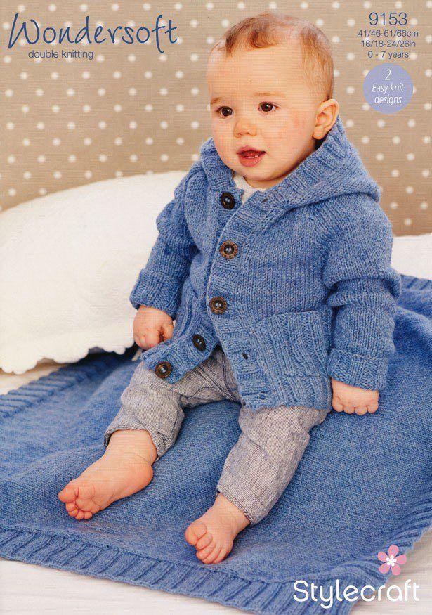 Boys Coat And Blanket In Stylecraft Wondersoft Dk 9153