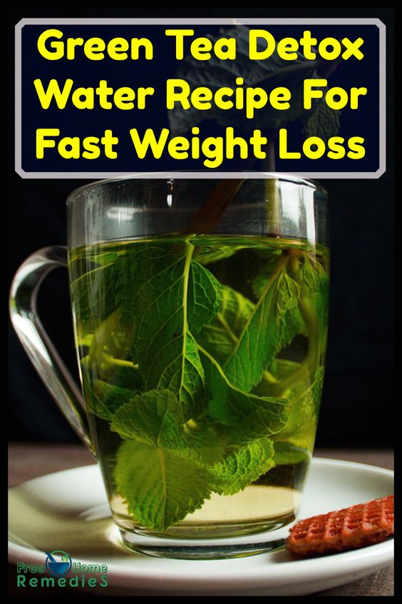 Photo of Green Tea Detox Water Recipe For Fast Weight Loss