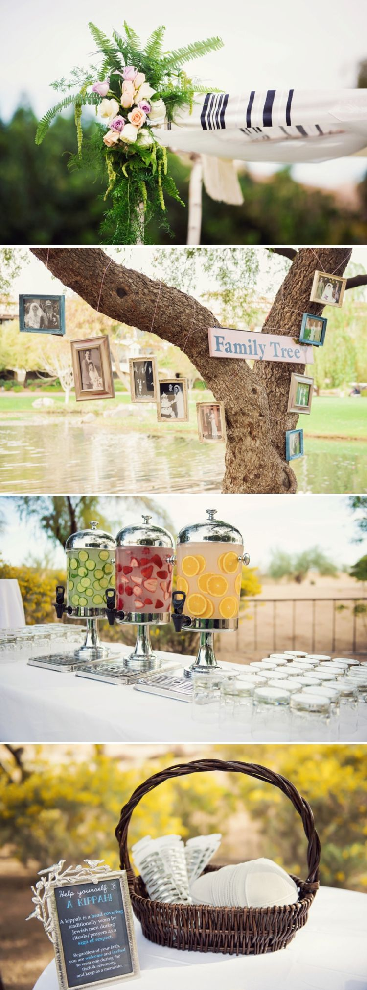 A destination jewish wedding full of creativity symbolism and these beach wedding decoration decoration ideas are stunning the real family tree is so unique junglespirit Image collections