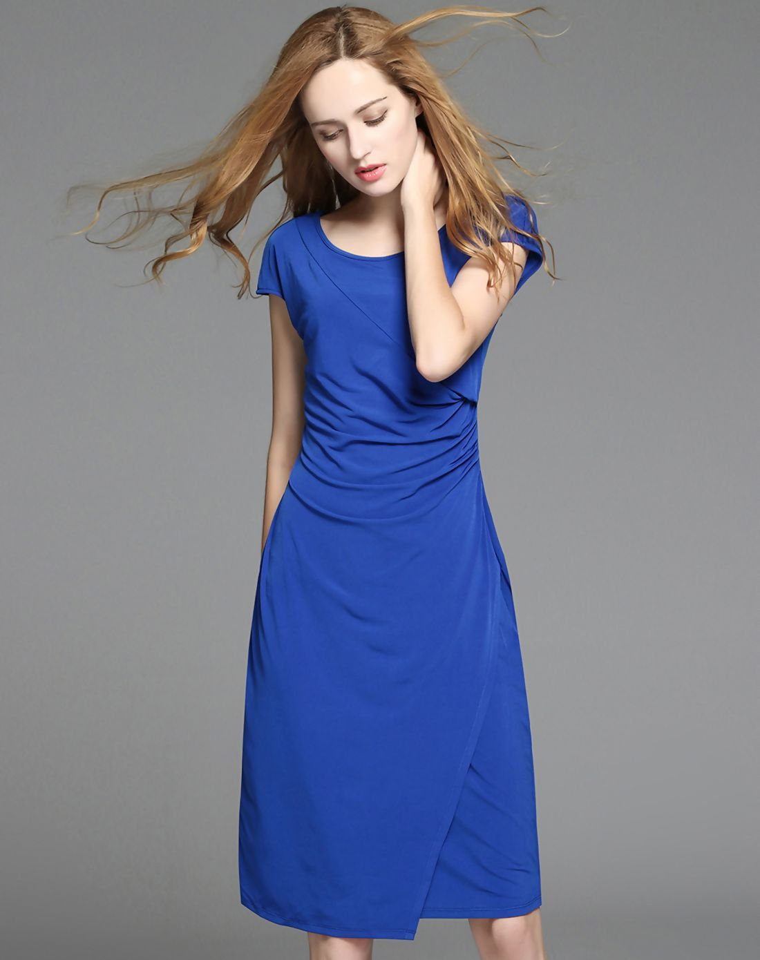 Adorewe vipme sheath dressesdesigner multiflora royal blue roma