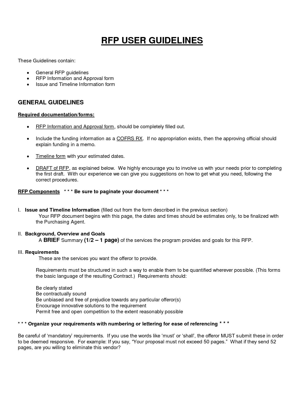 rfp resume template