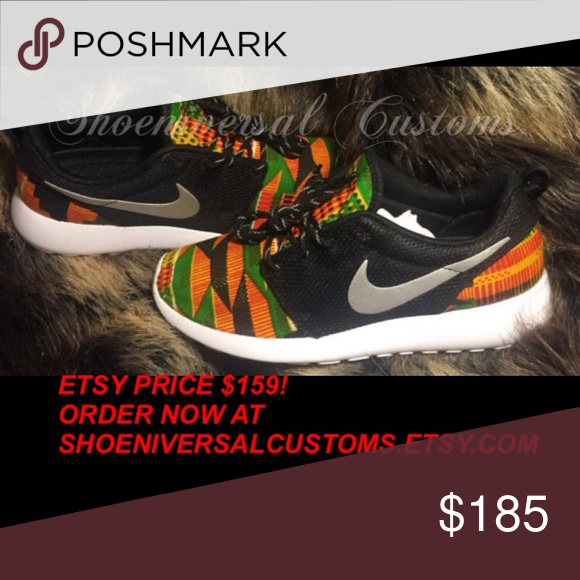 55d2ce8d6954 Nike Roshe Run Kente Cloth African Custom Sneakers   FOR BETTER PRICING
