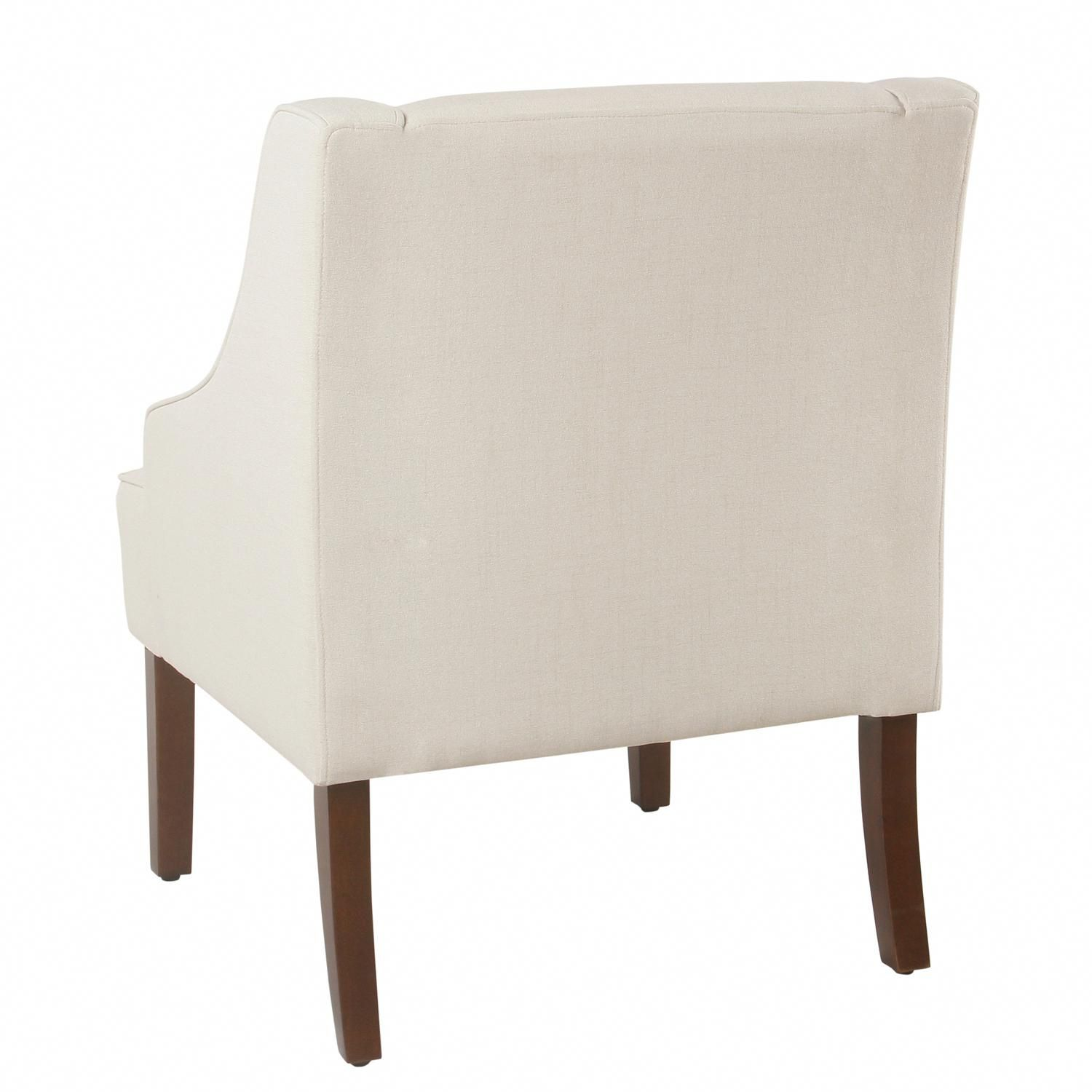 3e83321498b4 Classic Swoop Arm Accent Chair In Cream  readingchairs