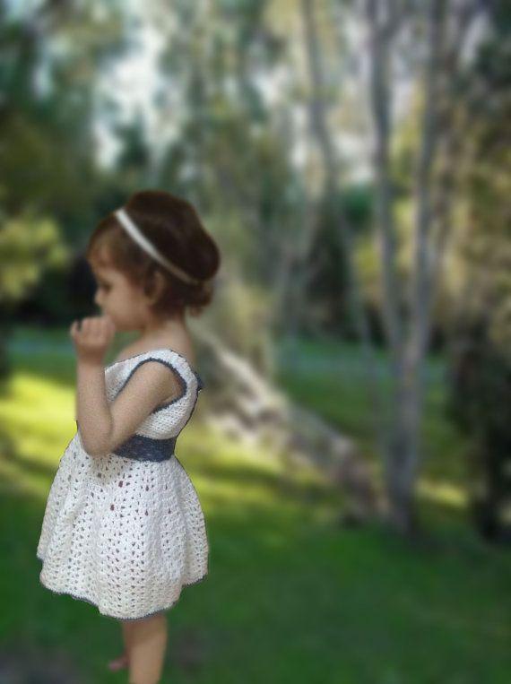 Handmade+Crochet+baby+girl+dress+with+a+Free+Headband+by+SueStitch,+$34.99