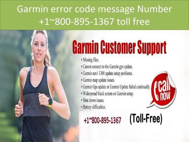 Garmin error code 104 Number 18008951367 toll free
