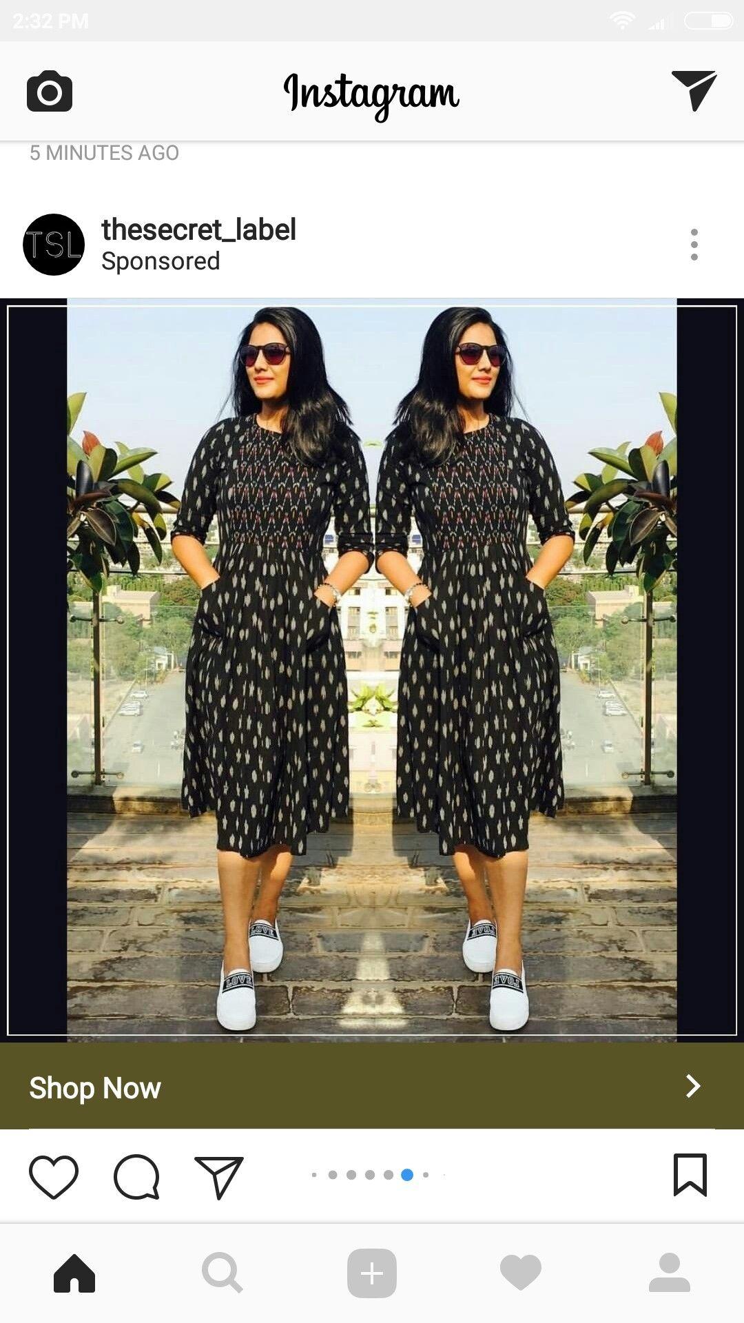 One Piece Ikkat Dresses Frock Fashion Indian Designer Wear