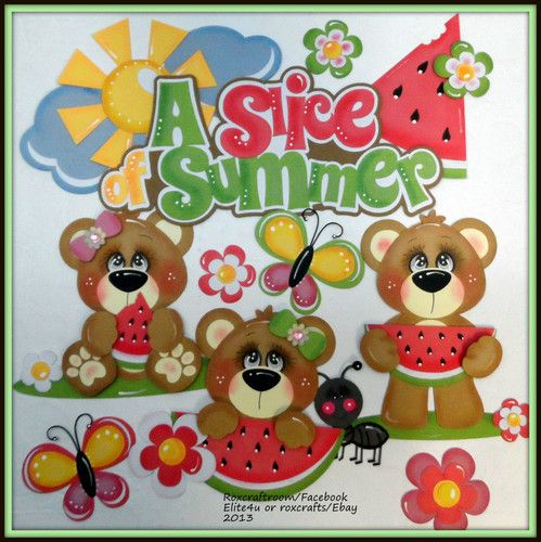 """""""A SLICE OF SUMMER"""" premade tear bear paper piecing..."""